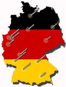 Karte Deutschlands